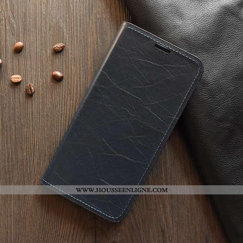Housse Huawei Y6s Cuir Silicone Téléphone Portable Coque Étui Noir