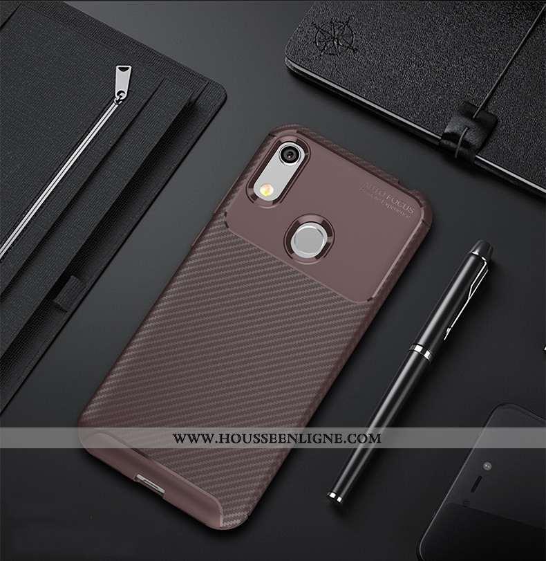 Housse Huawei Y6s Protection Fluide Doux 2020 Coque Silicone Téléphone Portable Orange