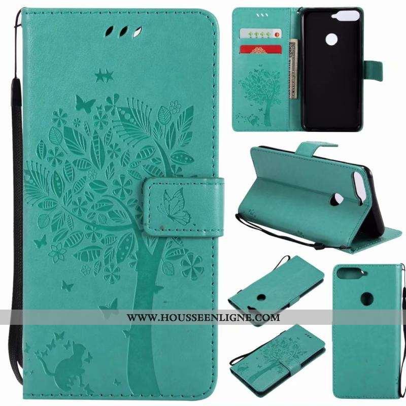 Housse Huawei Y7 2020 Fluide Doux Protection Étui 2020 Cuir Coque Téléphone Portable Verte