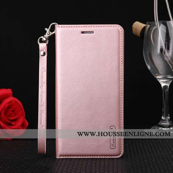 Housse Huawei Y7 2020 Ornements Suspendus Cuir Véritable Protection Téléphone Portable Cuir Étui Ros