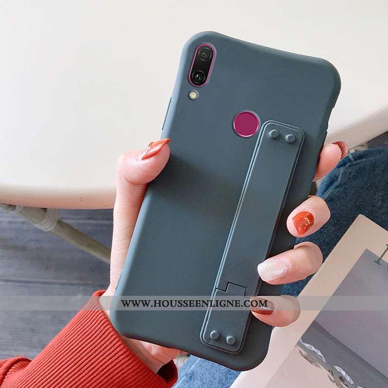 Housse Huawei Y7 2020 Tendance Silicone Téléphone Portable Protection Étui 2020 Bleu Marin Bleu Fonc