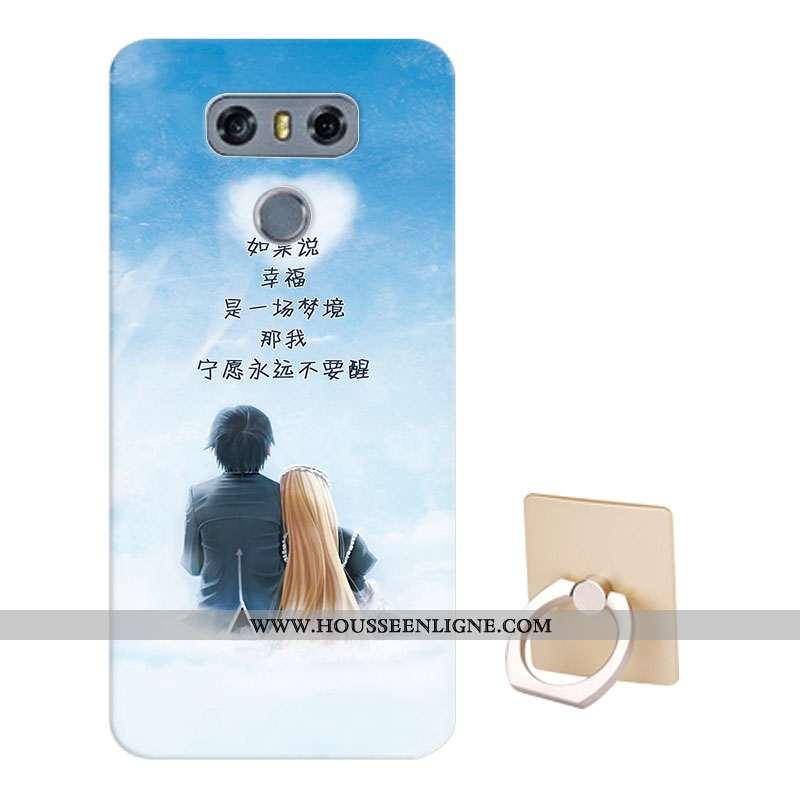 Housse Lg G6 Protection Dessin Animé Fluide Doux Téléphone Portable Coque Étui Bleu
