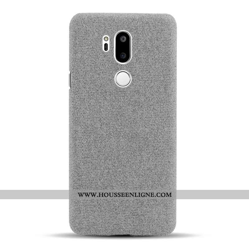 Housse Lg G7 Thinq Protection Téléphone Portable Étui Tissu Gris Coque