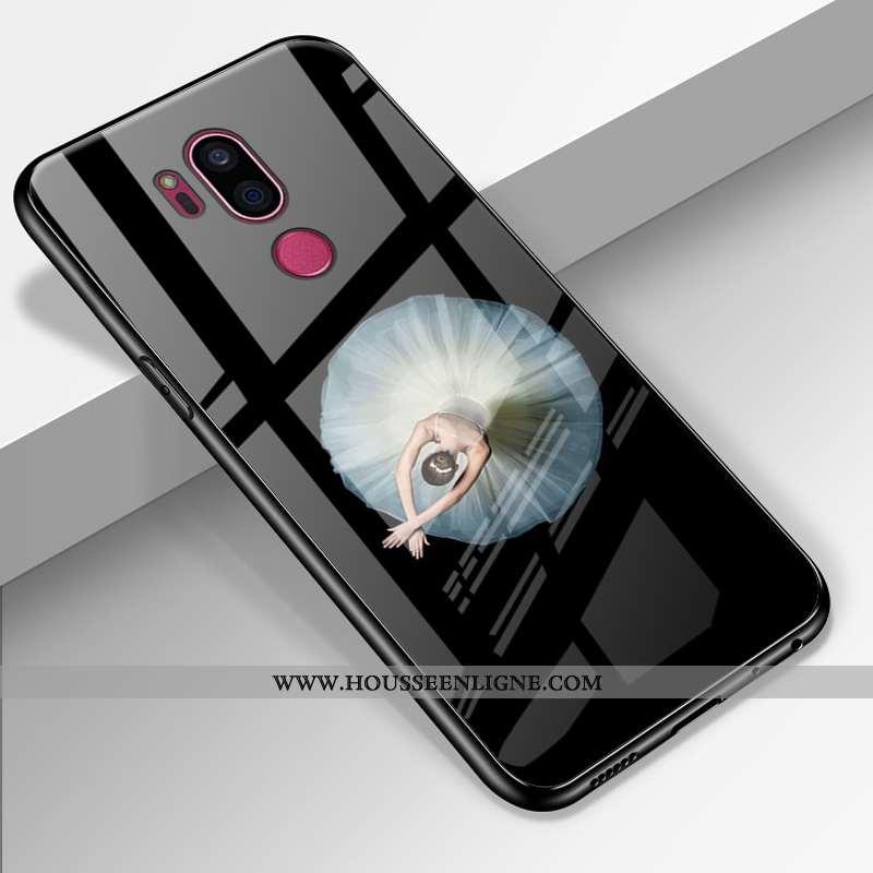 Housse Lg G7 Thinq Silicone Protection Téléphone Portable Verre Coque Incassable Personnalisé Noir
