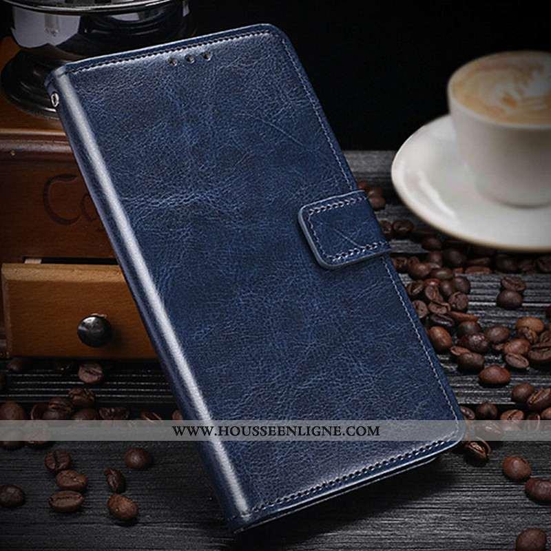 Housse Lg K11 Cuir Protection Bleu Marin Tout Compris Carte Téléphone Portable Bleu Foncé