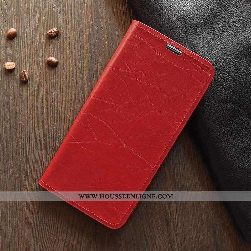 Housse Lg K11 Légère Cuir Téléphone Portable Fluide Doux Silicone Luxe Coque Rouge
