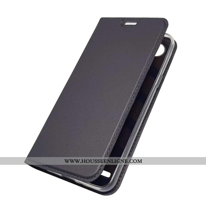 Housse Lg Q6 Cuir Protection Coque Ultra Incassable Noir Carte