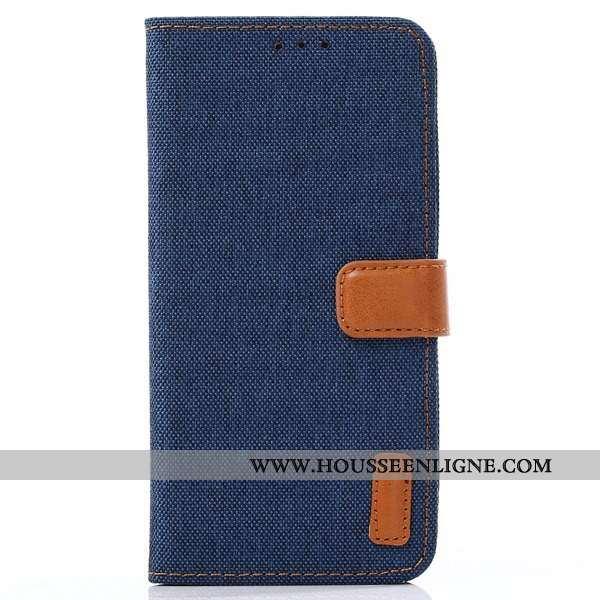 Housse Lg Q7 Cuir Protection Étui Bleu Téléphone Portable Coque Incassable