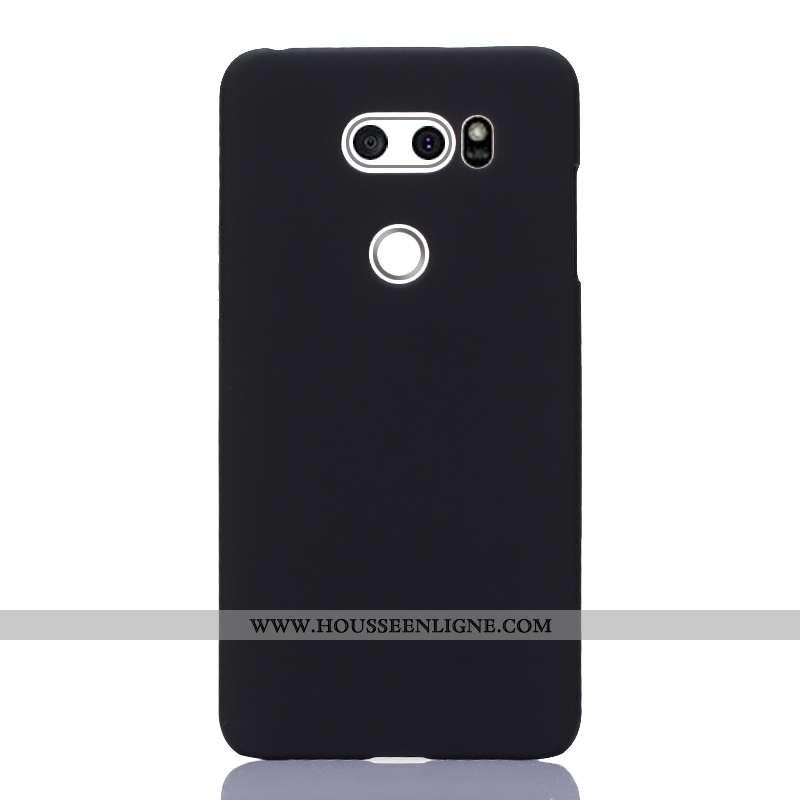 Housse Lg V30 Protection Téléphone Portable Résistant À L'usure Noir Simple Coque Étui