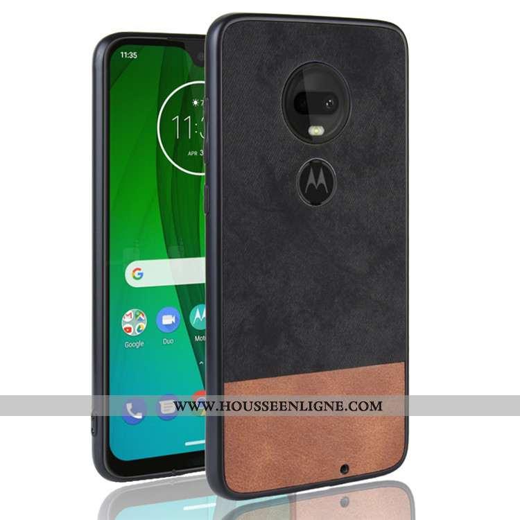 Housse Moto G7 Plus Protection Incassable Tout Compris Téléphone Portable Étui Noir Coque