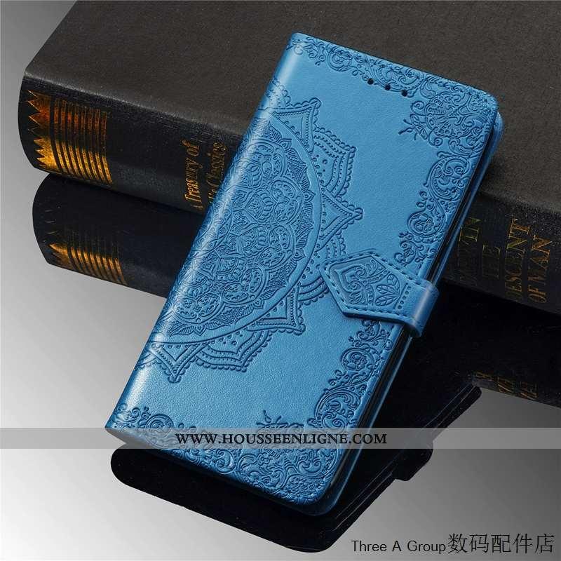 Housse Moto G7 Power Fluide Doux Silicone Bleu Incassable Personnalité Clamshell Protection