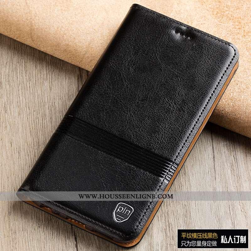 Housse Moto G7 Power Protection Cuir Véritable Téléphone Portable Étui Noir Europe