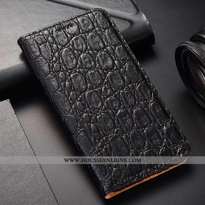 Housse Moto G8 Power Modèle Fleurie Protection Téléphone Portable Noir Cuir Véritable Tout Compris