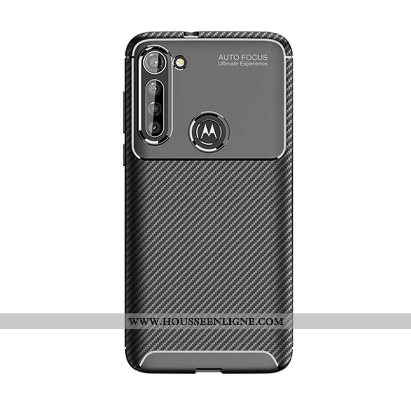 Housse Moto G8 Power Protection Fluide Doux Coque Couleur Unie Étui Téléphone Portable Incassable No