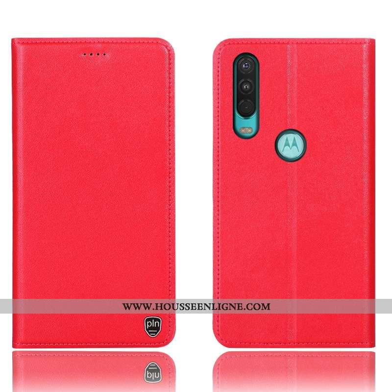 Housse Motorola One Action Cuir Véritable Protection Téléphone Portable 2020 Tout Compris Incassable