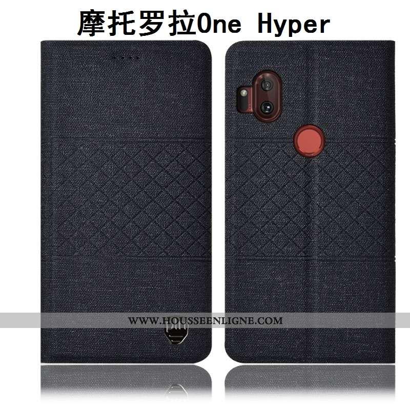 Housse Motorola One Hyper Protection Coque Téléphone Portable Étui Tout Compris Matelassé Noir