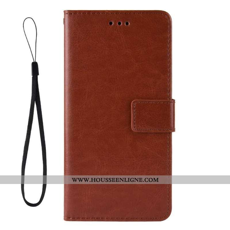 Housse Motorola One Hyper Protection Cuir Étui Coque Téléphone Portable Marron