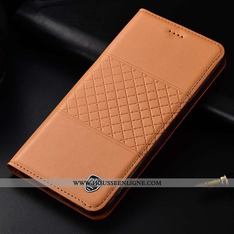 Housse Nokia 1 Plus Protection Cuir Véritable Téléphone Portable Étui Coque Jaune