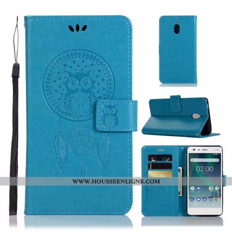Housse Nokia 2.1 Cuir Tendance Téléphone Portable Coque Étui Incassable Bleu