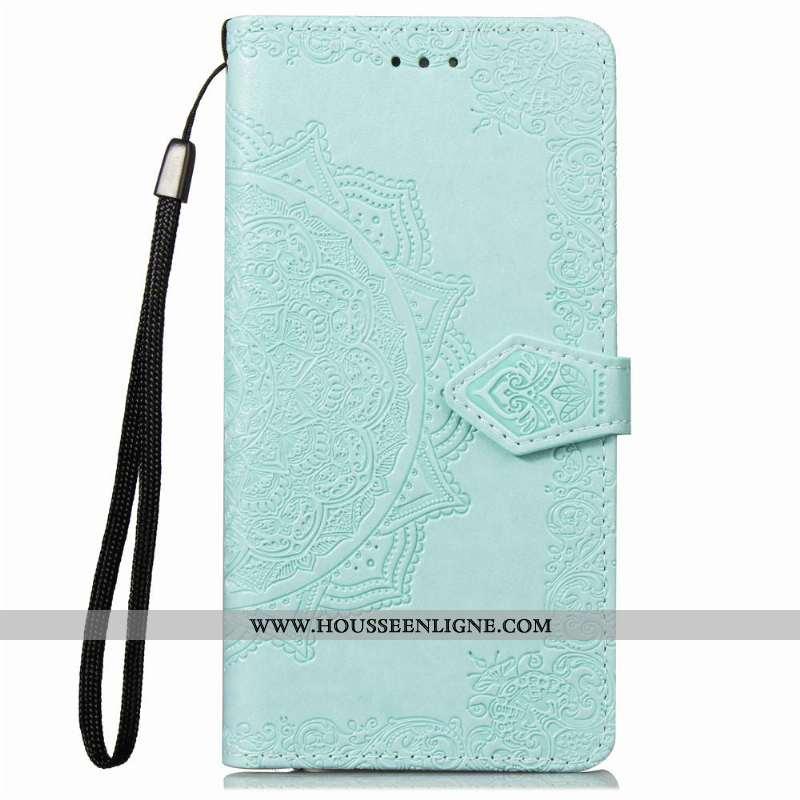 Housse Nokia 2.1 Gaufrage Cuir Incassable Coque Carte Protection Téléphone Portable Verte