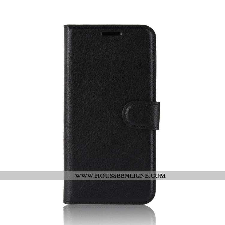 Housse Nokia 2.2 Tendance Cuir Étui Incassable Coque Téléphone Portable Noir