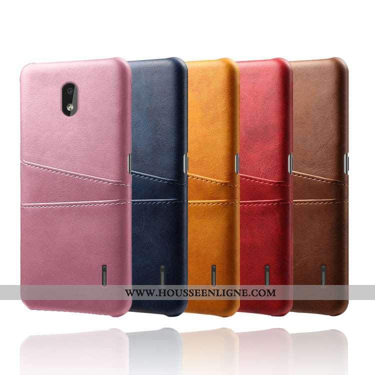 Housse Nokia 2.2 Tendance Cuir Qualité Carte Rose Téléphone Portable Coque