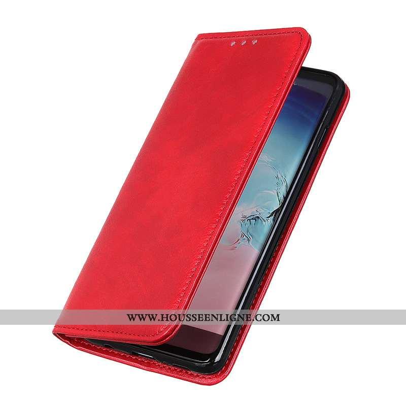 Housse Nokia 2.3 Modèle Fleurie Étui Magnétisme Téléphone Portable Rouge Coque Litchi