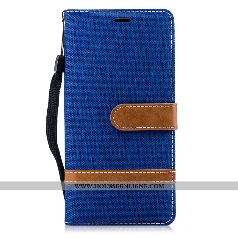 Housse Nokia 3.1 Créatif Portefeuille Coque Support Carte Tout Compris Bleu Marin Bleu Foncé