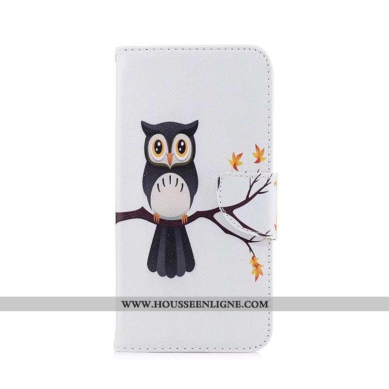Housse Nokia 3.1 Cuir Protection Téléphone Portable Blanc Étui Dessin Animé Coque Blanche