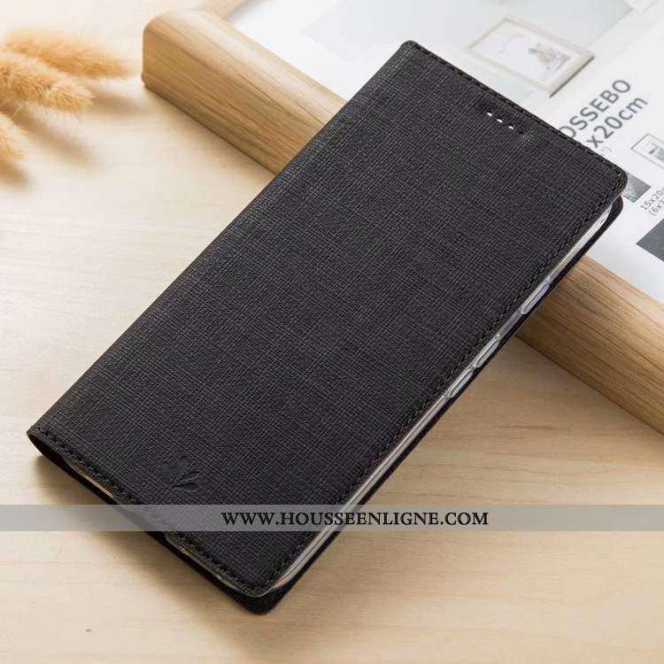 Housse Nokia 3.1 Modèle Fleurie Cuir Tissu Téléphone Portable Coque Carte Noir