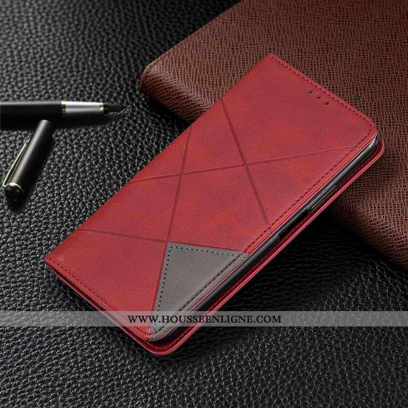 Housse Nokia 3.2 Cuir Coque Téléphone Portable Rouge Étui Automatique