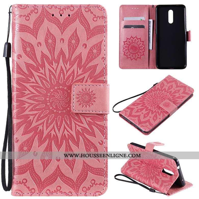 Housse Nokia 3.2 Cuir Protection Étui Téléphone Portable Rouge Coque