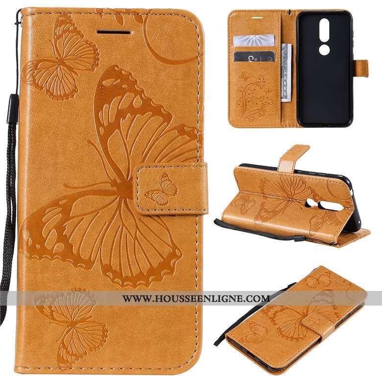Housse Nokia 3.2 Protection Cuir Étui Jaune Téléphone Portable Fluide Doux Coque