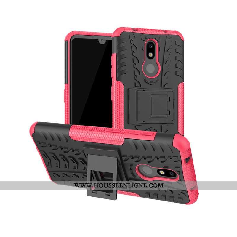 Housse Nokia 3.2 Protection Rouge Étui Support Coque Téléphone Portable Incassable Rose