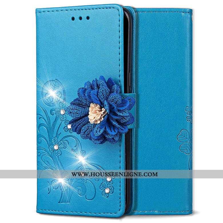 Housse Nokia 4.2 Cuir Mode Bleu Étui Clamshell Téléphone Portable Coque