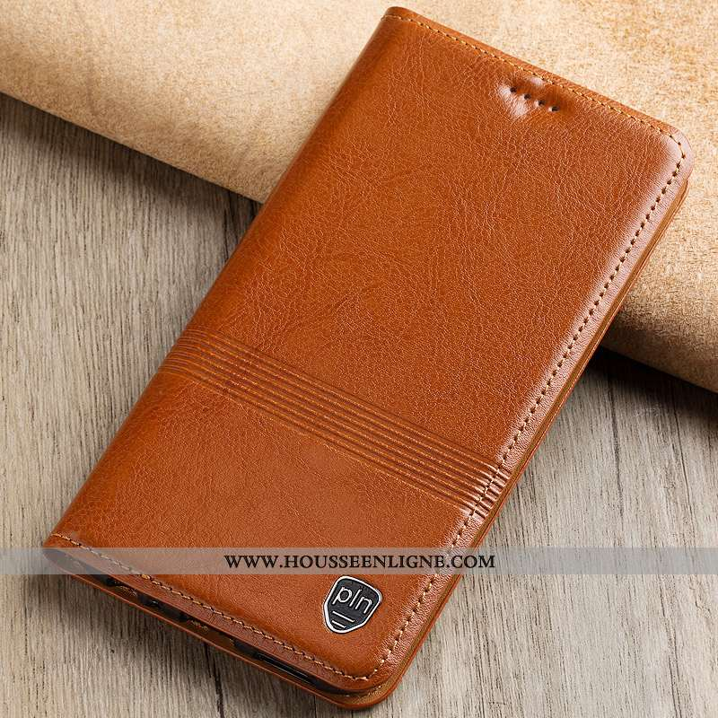 Housse Nokia 4.2 Cuir Véritable Cuir Étui Protection Incassable Coque Modèle Fleurie Khaki