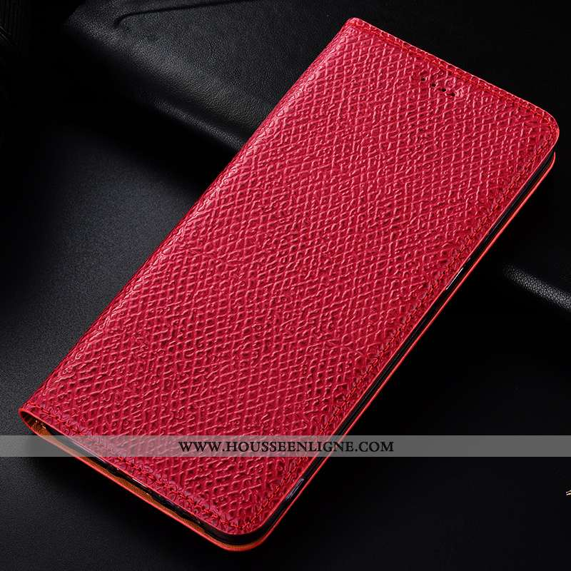 Housse Nokia 4.2 Cuir Véritable Modèle Fleurie Mesh Téléphone Portable Rouge Étui