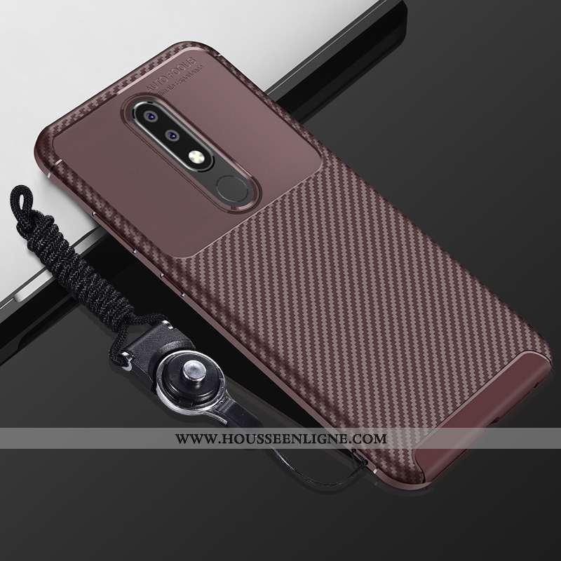 Housse Nokia 5.1 Plus Fluide Doux Silicone Coque Tout Compris Incassable Étui Téléphone Portable Mar
