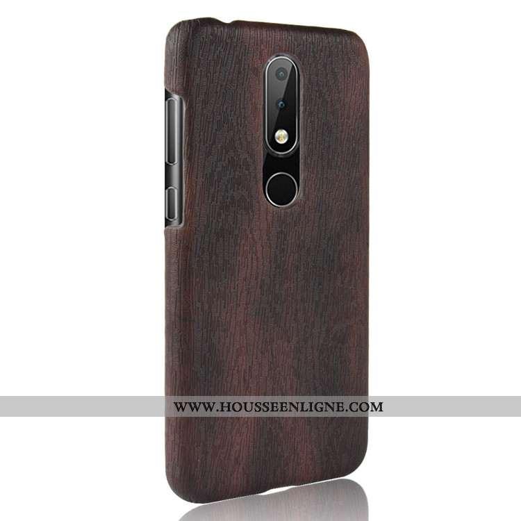 Housse Nokia 5.1 Plus Protection En Bois Couvercle Arrière Difficile Modèle Fleurie Incassable Télép