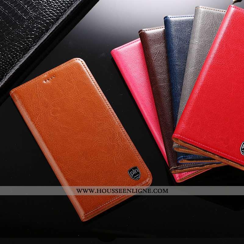 Housse Nokia 5.1 Protection Cuir Véritable Marron Coque Téléphone Portable Étui
