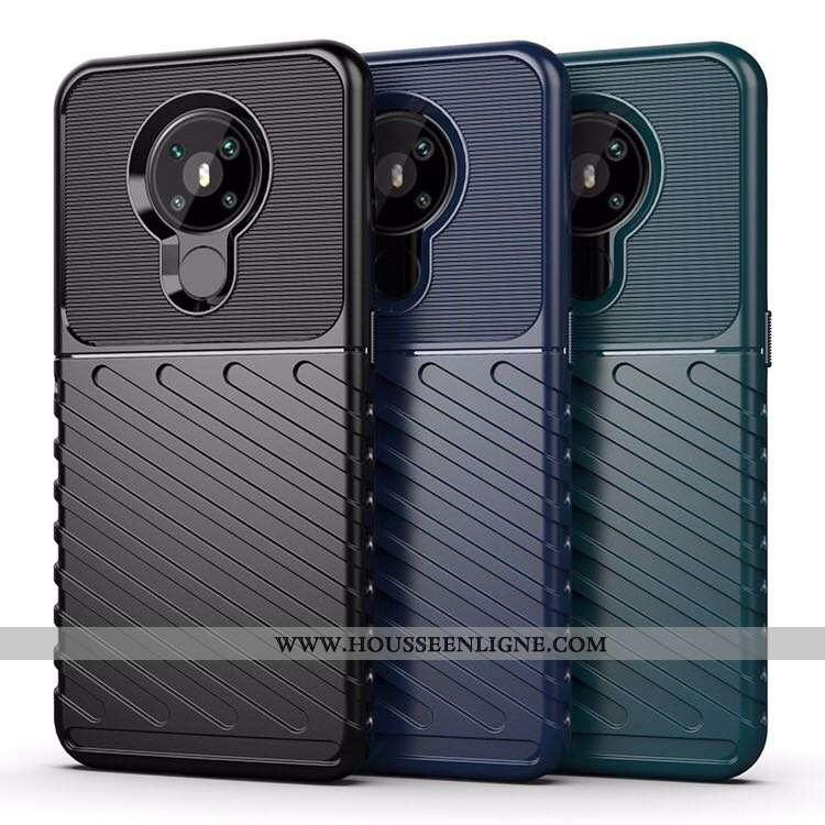 Housse Nokia 5.3 Coque Couvercle Arrière Noir Téléphone Portable Incassable