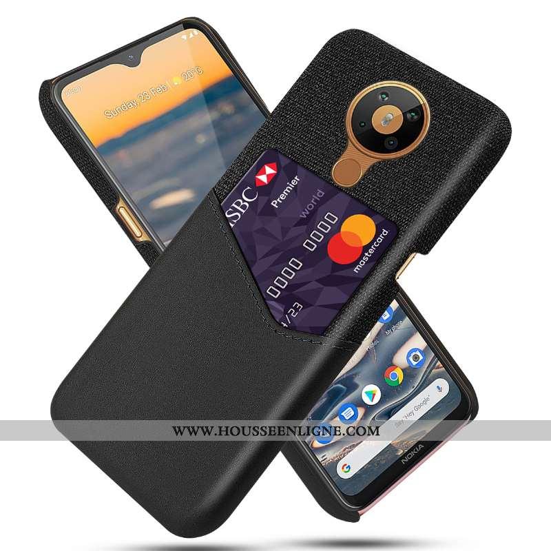 Housse Nokia 5.3 Cuir Protection Qualité Téléphone Portable Étui Noir Carte