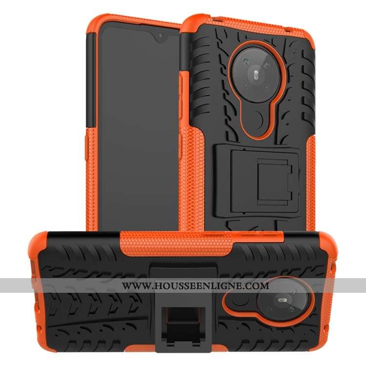 Housse Nokia 5.3 Délavé En Daim Personnalité Silicone Téléphone Portable Coque Tout Compris Orange