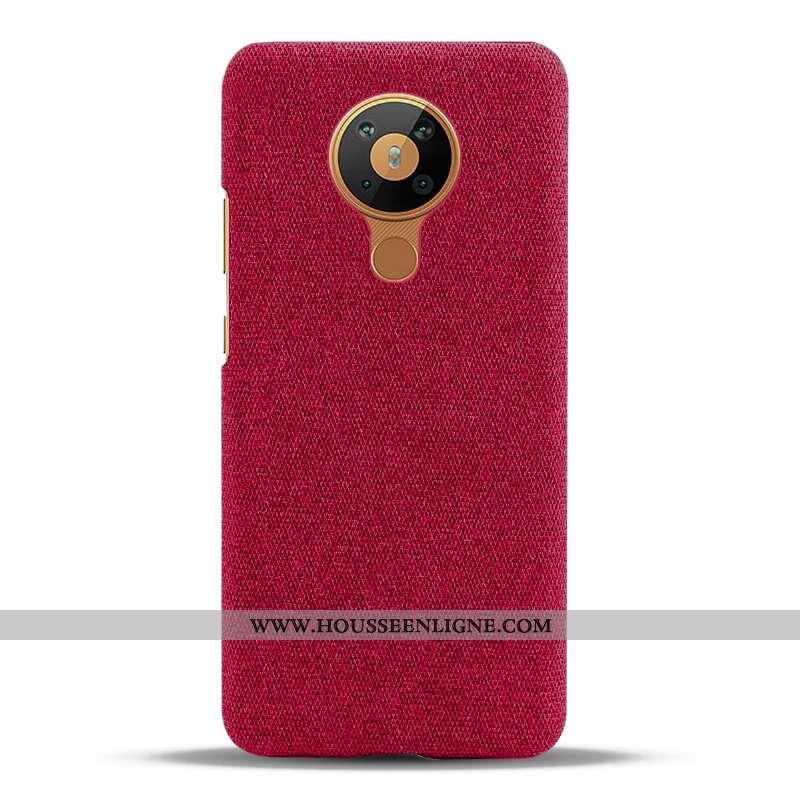 Housse Nokia 5.3 Protection Vin Rouge Étui Tissu Téléphone Portable Coque Bordeaux
