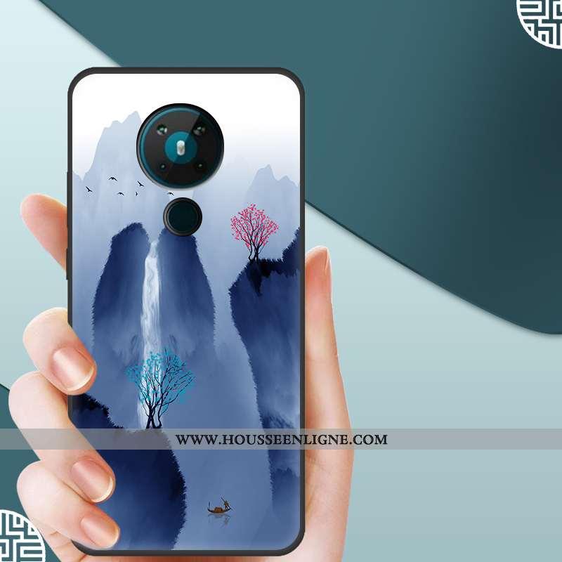 Housse Nokia 5.3 Silicone Mode Incassable Bleu Tendance Protection Téléphone Portable