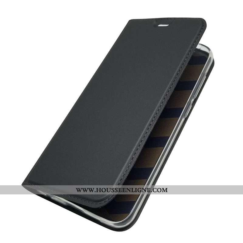 Housse Nokia 6.1 Cuir Fluide Doux Nouveau Silicone Clamshell 2020 Noir