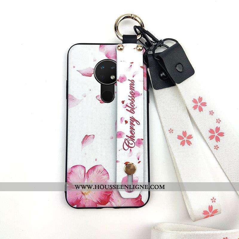 Housse Nokia 6.2 Créatif Fluide Doux Rose Téléphone Portable Ornements Suspendus Support Étui