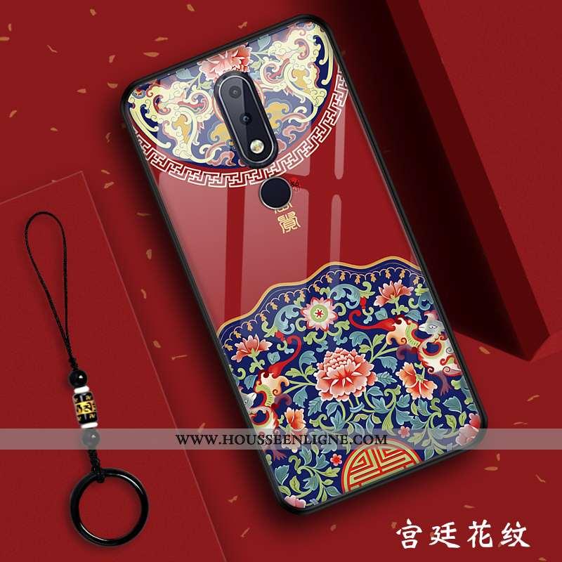 Housse Nokia 7.1 Verre Silicone Rouge Incassable Palais Vent Nouveau