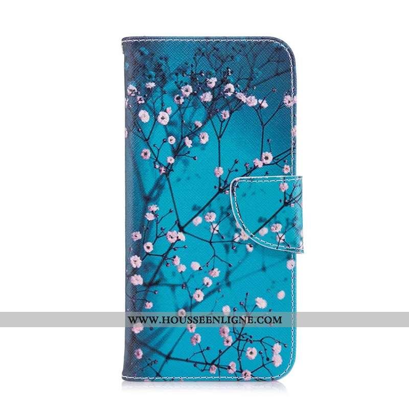 Housse Nokia 7.2 Cuir Protection Téléphone Portable Peinture Étui Coque Bleu