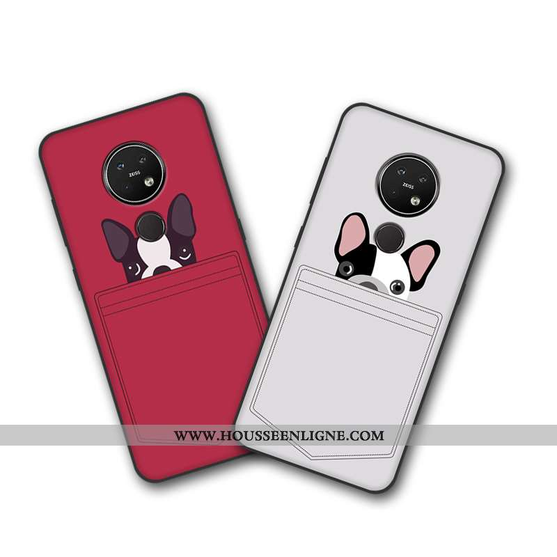 Housse Nokia 7.2 Dessin Animé Tendance Coque Tout Compris Étui Protection Téléphone Portable Beige